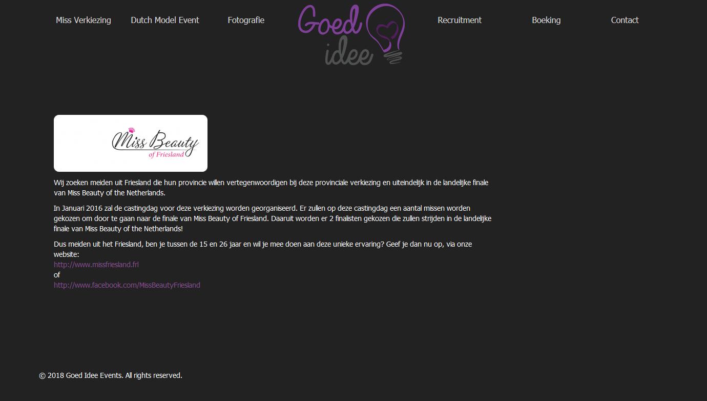 Website van Goed-Idee events